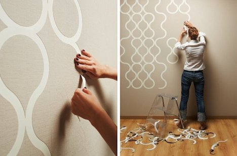 Wallpaper You Can Color wild wallpaper: interactive decor you can rip & color | urbanist