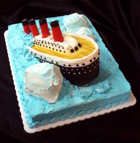 Double Jeopardy Titanic Cake