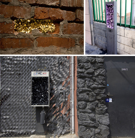Urban Geodes: Crystal Street Art Hidden in Broken Spaces