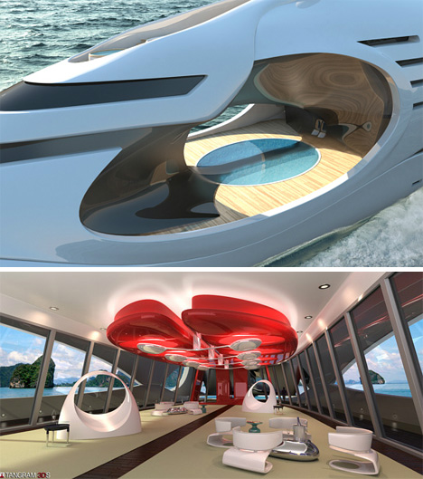 4 Fantasy Yachts Blend Sleek & Silly in Style
