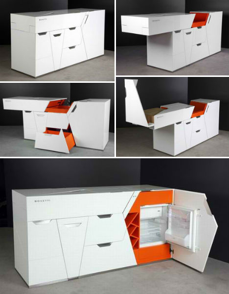 Boxetti Geometric Sliding Kitchen