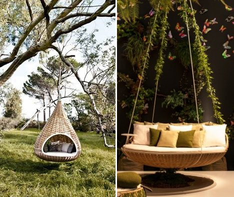Swing & Nest Rests Dynamic Duo of Outdoor Lounging