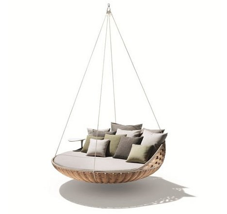 swing nest rests dynamic duo of outdoor lounging urbanist. Black Bedroom Furniture Sets. Home Design Ideas