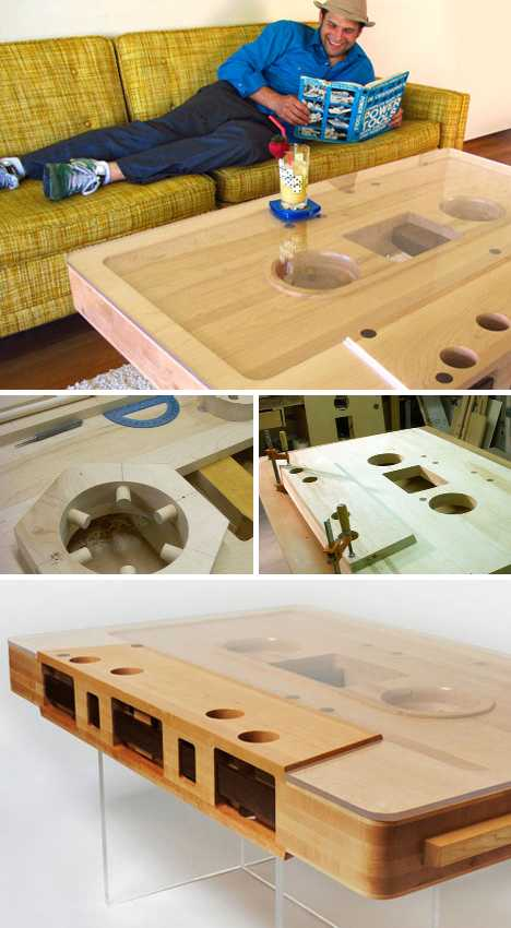 Charming Reclaimed Wood Mixtape Coffee Table. (images ...