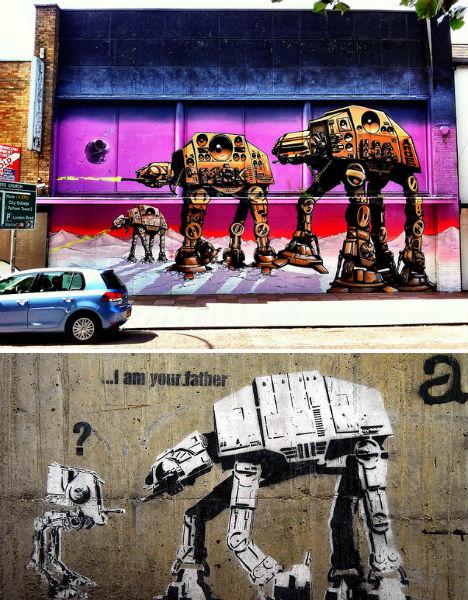 Art Strikes Back 24 More Sweet Star Wars Graffiti Artworks Urbanist