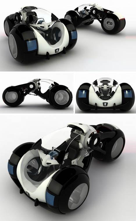 Three Wheeled Electric Car Steering Wheel