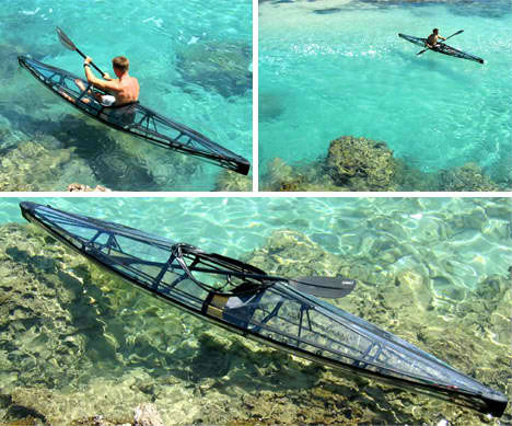 foldable inflatable clear kayak