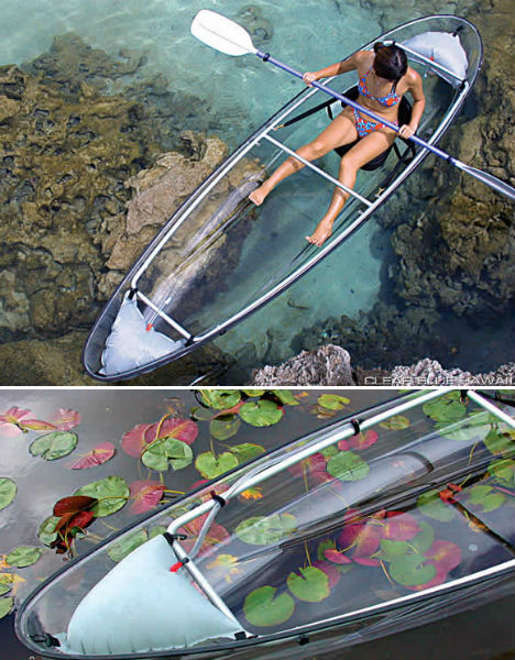 Clear sailing cleverly transparent canoes kayaks urbanist for Kayak fishing hawaii