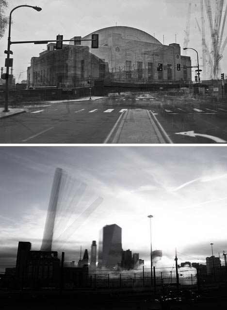 Building Demolition Before And After : Ghost architecture building demolition photo composites