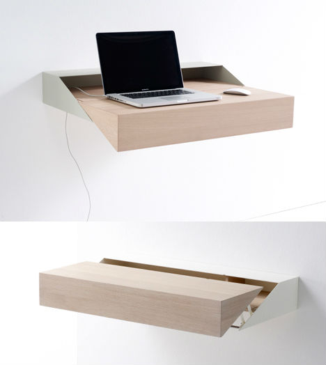 Sleek & Simple Wall Desk by Raw Edges for Arco