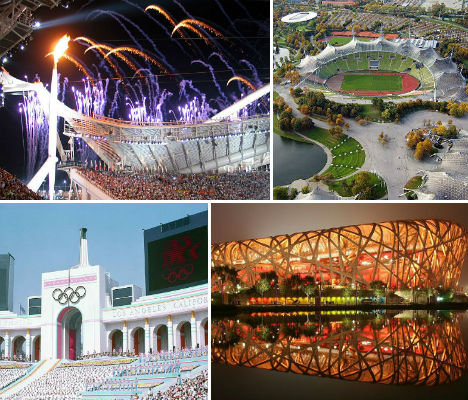 Gold Metal Architecture Olympic Stadiums 1896 2012