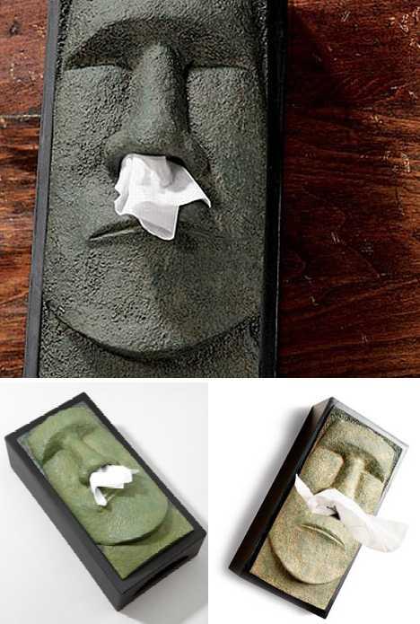 moai tissue box cover images