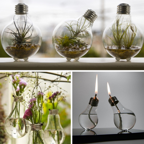 Light bulbs as art 14 shining examples of adaptive reuse for Light bulb diy projects