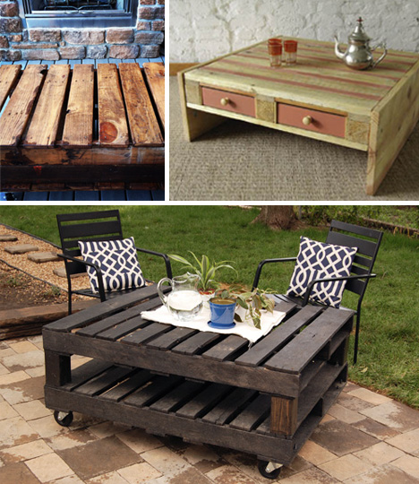 Simple Pallets are durable This means they can easily be kept outside on a patio without worry of them falling apart just like the beautiful patio table pictured