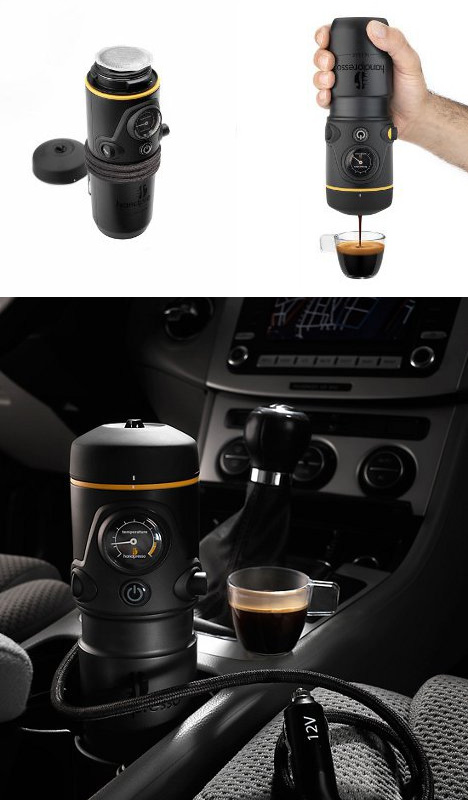 Brewed fresh 10 hot coffee centric designs prototypes - Portable coffee maker for car ...