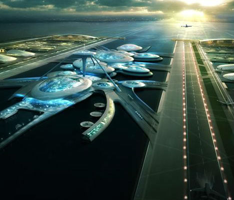 Futuristic Floating Airport For London Features Underwater Tunnels