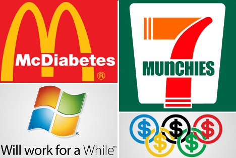 reality rebranding corporate logos get brutally honest