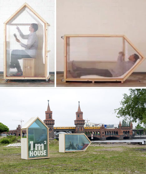 World s smallest house 1 sq m of mobile living space for The smallest house