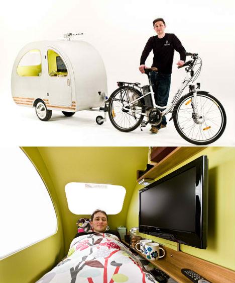 bike campers 12 mini mobile homes for nomadic cyclists. Black Bedroom Furniture Sets. Home Design Ideas