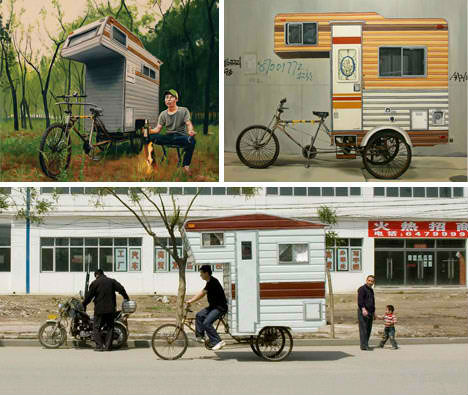Mini Mobile Home for Bikes by Kevin Cyr - Bike Campers: 12 Mini Mobile Homes For Nomadic Cyclists Urbanist