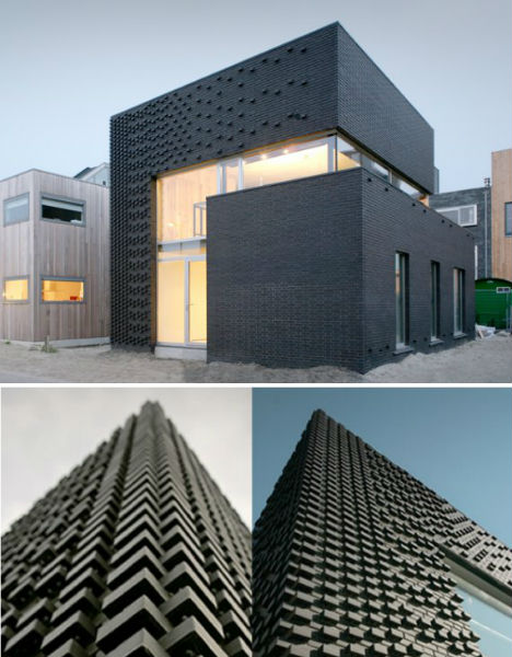 Black buildings 15 examples of monochromatic architecture for Commercial building architect
