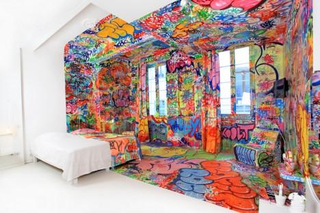 panic room colorful interior