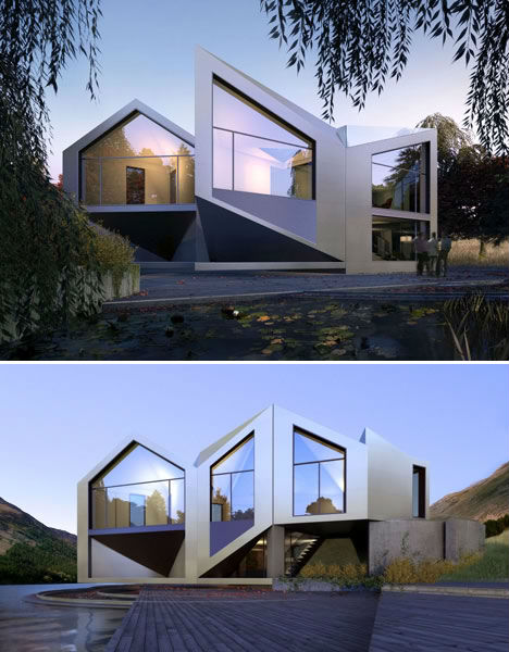 Dynamic shape shifting d haus rotates to follow the sun urbanist - Rotating homes follow sun ...
