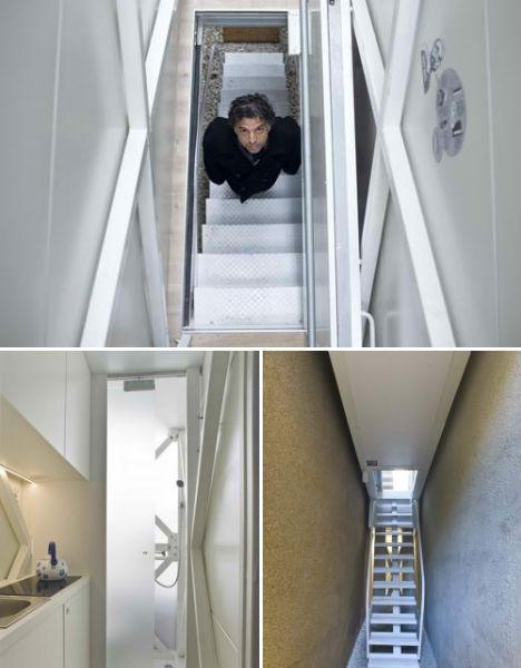 Keret House, Rumah Tertipis di Dunia dengan Lebar Empat Kaki 8