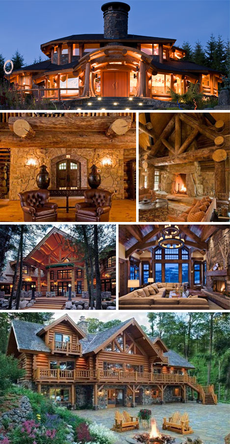Standout Cabin Designs : Bunyan s pride log cabins that stack above the rest