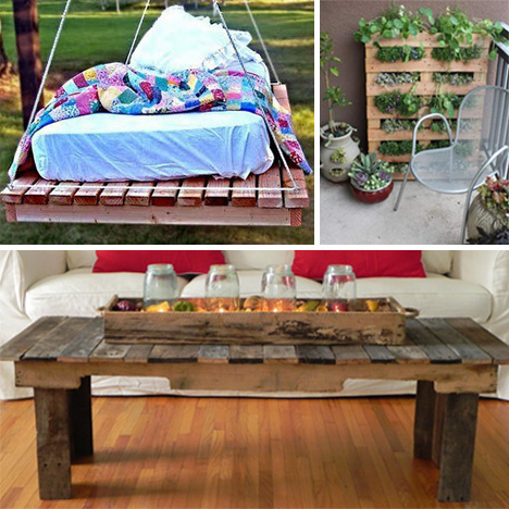 13 diy pallet projects to load your house with charm for Diy projects using wood pallets