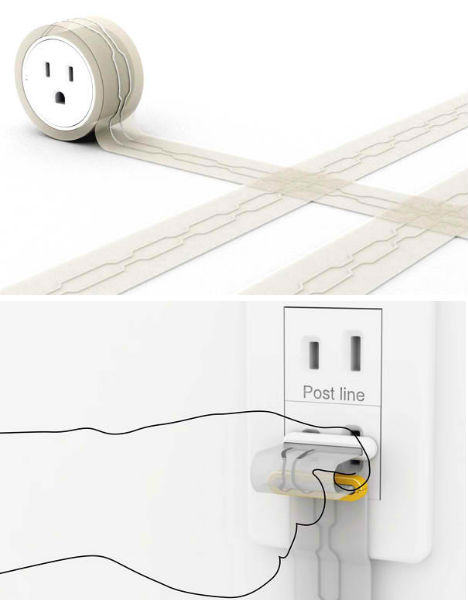 Power Flat Extension Cord