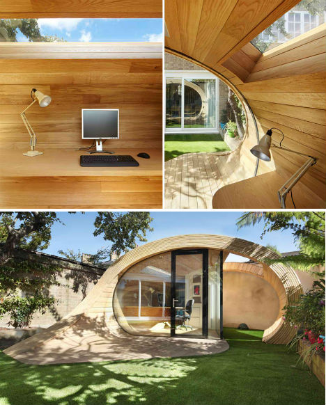 the backyard shed office