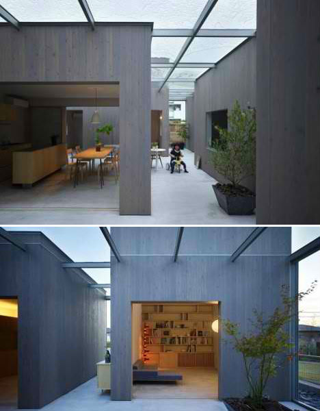 Only in japan 13 odd houses by suppose design office for Enclosed courtyard house plans