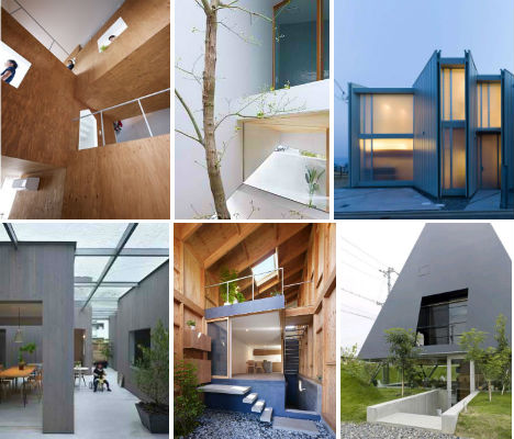 Only in Japan : 13 Odd Houses by Suppose Design Office ... Narrow Japanese Townhouse Design on narrow room design, narrow modern house design, narrow courtyard design,