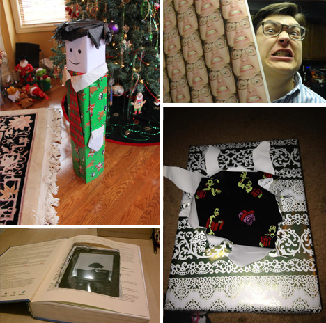 Step two: win Christmas next year. News Videos Quizzes Tasty As/Is Gift Guide More 21 People Who Got Creative With Their Gift Wrapping. Step one: read this post. FUNNY PICS @LaughPix.
