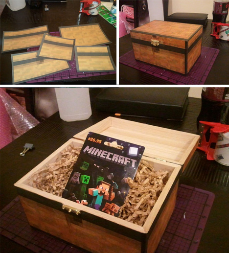 gift custom minecraft box