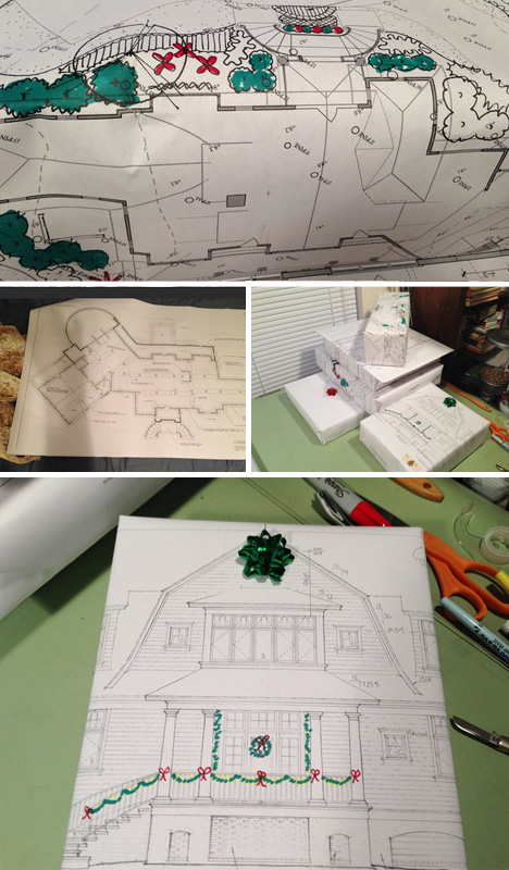 gift wrapping architectural plans