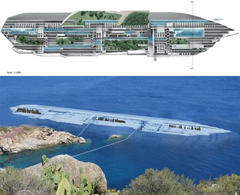 Sunken Memorial Garden Sliced Into Submerged Cruise Ship Urbanist - Sunken cruise ships