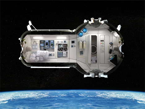 4 orbiting space hotel