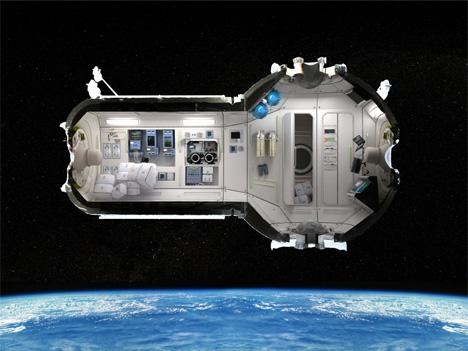 4 orbiting space hotel