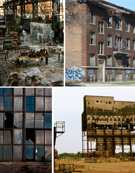 Abandoned Detroit Mills Factories
