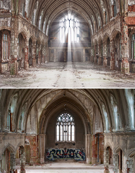 Abandoned St. Agnes Church Detroit 1