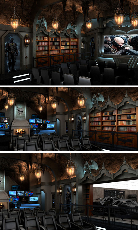 Batman-Themed-Home-Theater
