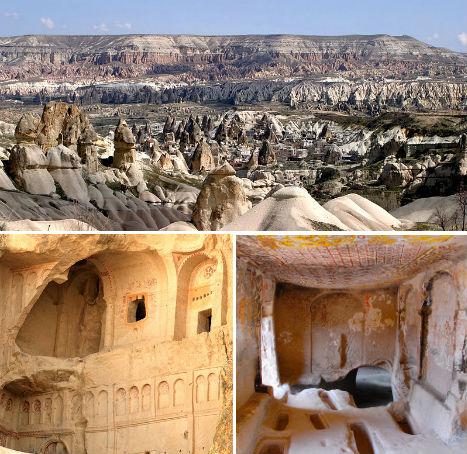 Cliffside Mountain Monasteries Cappadocia 1