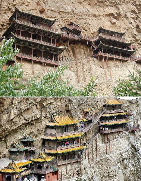 Cliffside Mountain Monasteries Hanging Temple China