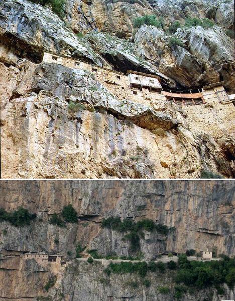 Cliffside Mountain Monasteries Kipina