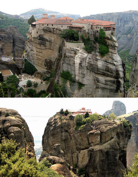 Cliffside Mountain Monasteries Meteora 1