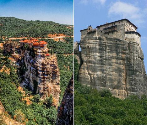 Cliffside Mountain Monasteries Meteora 2
