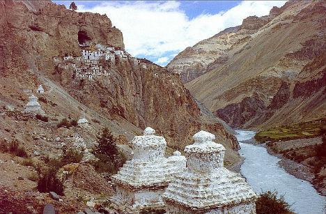 Cliffside Mountain Monasteries Phugtal 2