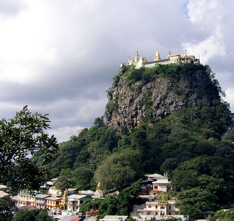 Cliffside Mountain Monasteries Popa 1